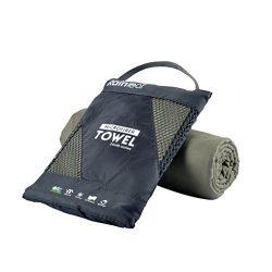 RainLeaf Antibacterial Microfiber Towel, X-Small (12 x 24 inches), Army Green