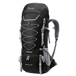 Mountaintop 80L Internal Frame Backpack Hiking Backpack with Rain Cover YKK buckle-5820II (75L B ...