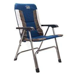 Timber Ridge Camping Chair Portable High Back with Carry Bag Easy Folding Padded for Outdoor Ind ...