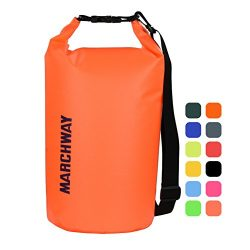 MARCHWAY Floating Waterproof Dry Bag 5L/10L/20L/30L, Roll Top Sack Keeps Gear Dry for Kayaking,  ...