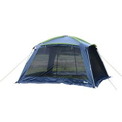 Outsunny 12'L x 12'W Mesh Portable Outdoor Screen House Shelter – Dark Blue/Green