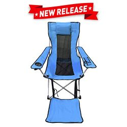 EasyGo Leg Rest Camping Chair – Lightweight, Foldable, Reclining Leg Rest Camping Chair – Campin ...