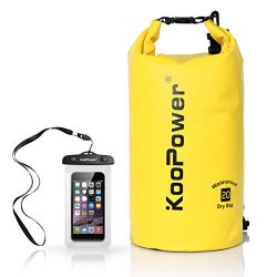 Koopower Waterproof Bag Drybag 20L Dry Gear Backpack with Universal Waterproof Phone Case for Bo ...