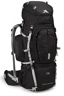 High Sierra Appalachian 75 Internal Frame Pack, Black/Black/Silver