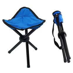 Portable Tripod Stool Folding Lightweight Chair Heavy Duty Foot Rest Seat for Outdoor Camping Wa ...