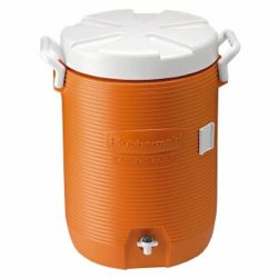 RHP1840999 – Insulated Water Cooler, 5 Gal, Orange, 10quot;dia X 19 1/2quot;h, Polyethylene