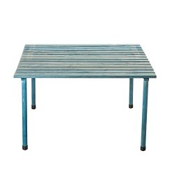 VYTAL Roll-Up Picnic Table (Blue Wash) – Portable table perfect for outdoor events, campin ...