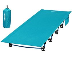MARCHWAY Ultralight Folding Tent Camping Cot Bed, Portable Compact for Outdoor Travel, Base Camp ...