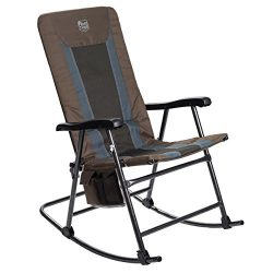 Timber Ridge Smooth Glide Lightweight Padded Folding Rocking Chair for Indoor and Outdoor suppor ...