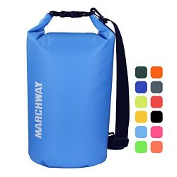 MARCHWAY Floating Waterproof Dry Bag 5L/10L/20L/30L, Roll Top Dry Sack for Kayaking, Rafting, Bo ...