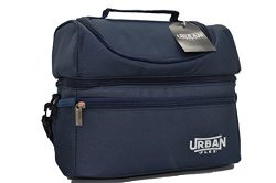 Adult Insulated Lunch Bag by UrbanFlex – Reusable, Dual Zipper Ultra Insulated Compartments for  ...