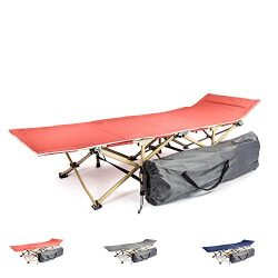 Camping cot portable folding bed for adults and kids   While camping or backpacking take our fol ...