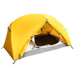 ARAER 3 Person Camping Family Tent with Screen Porch, Waterproof, Windproof, 3 Usages, UV Protec ...