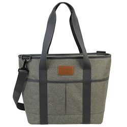 16L Large Insulated Bag | 25CAN Waterproof Cooler Carrier Bag| Thermal Picnic Tote | Lunch Bags  ...