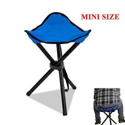 Messar Folding Tripod Stool, Portable Stable Travel Chair Tri-Leg Stool for Outdoor Travel Campi ...