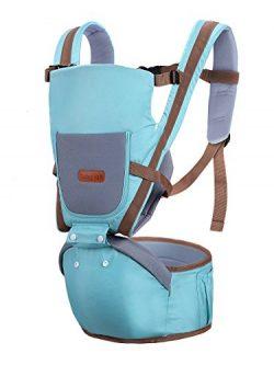 360 All Positions Detachable Ergonomic Baby Carrier For Infant Child Todller Blue