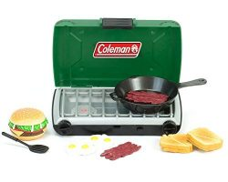 Green Coleman 18 Inch Doll Camping Stove & Food Set with Frying Pan Perfect for American Gir ...