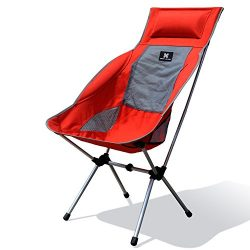 Moon Lence Compact Ultralight Portable Folding Camping Backpacking Chairs with Carry Bag (lounge ...