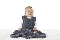 Gunapod Sleep Sack Unisex Fleece Wearable Blanket Baby Sleeping Bag, Charcoal Grey