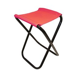 ALEKO CS02RD Outdoor Foldable Camping Chair, Fishing Stool, Portable Hiking Beach Travel Seat, Red