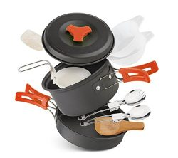 lovehope Camping Cookware Mess Kit, camp stove, Backpacking Gear & Hiking Outdoors Bag Cooki ...