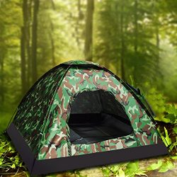 Camping Tent Camouflage Dome Tent Hiking Backpacking Shelters 4 Season Family Instant Tent (2 pe ...