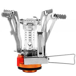 REEHUT Ultralight Portable Camping Stoves Backpacking Stove with Piezo Ignition Adjustable Valve ...
