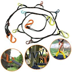 Outdoor Camping lanyard with Hook, Camping Rope Outdoor Storage Rope Outdoor Travel Camping Clot ...