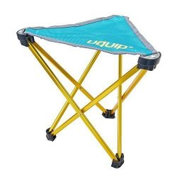 Uquip Trinity Portable Folding Tripod Stool for Camping and Sports – Petrol / Gold