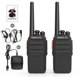 Radioddity R2 Advanced Two-Way Radio UHF 400-470MHz 16 CH Scrambler VOX Rechargeable Long Range  ...
