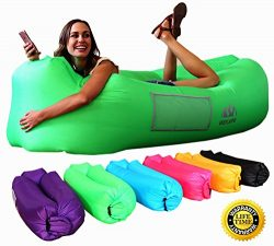 WEKAPO Inflatable Lounger Air Sofa Hammock-Portable,Water Proof& Anti-Air Leaking Design-Ide ...