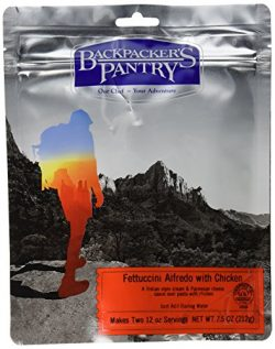 Backpacker's Pantry Fettuccini Alfredo with Chicken, Two Serving Pouch, (Packaging May Vary)