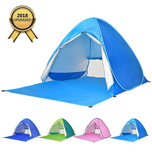 Automatic Pop Up Camping Tent Sun Shelters Windproof Ventilation Detachable
