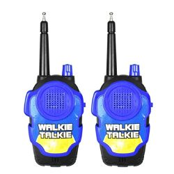 Naladoo 2Pcs Wireless Walkie Talkie Kids Electronic Toys Portable Two-Way Radio (Blue)