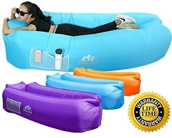 WEKAPO Inflatable Lounger Air Sofa Hammock-Portable,Water Proof& Anti-Air Leaking Design-Ide ...