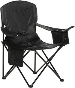 AmazonBasics Camping Chair with Cooler, Black (Padded) – XL