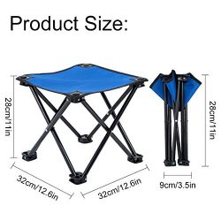 Garne T Camping Chair Portable Folding Stool, Outdoor Foldable Slacker Collapsible Chair for Cam ...
