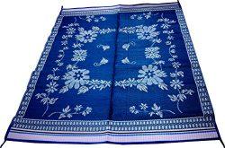 World Famous Sports Camping Floor Mat, Blue, 72″ x 36″