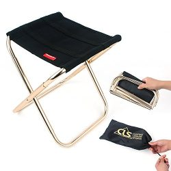 Mini Portable Folding Stool,Folding Camping Stool,Outdoor Folding Chair for BBQ,Camping,Fishing, ...