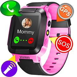 Kids Sports GPS Fitness Tracker Smart Watch Phone for Boys Girls with SOS SIM Slot Pedometer Ala ...