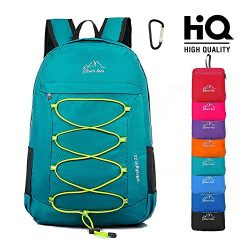 Lightweight Packable Hiking Backpack Foldable Water Resistant Durable Travel Daypack 25L Green