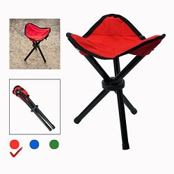 Foldable Tripod Stool Portable Chair for Outdoor Activities,Such as Fishing, Camping, Hunting, H ...