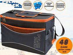 POLAR PACK Extra Large 48 Can Collapsible Cooler Bag Soft Portable Insulated Picnic Bag Outdoor  ...