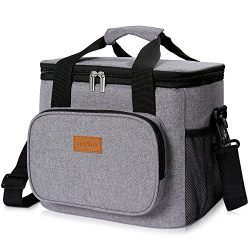 Lifewit 24-Can Large Cooler Bag Insulated Lunch Bag, Soft Cooler Bag for Beach/Picnic/Camping/BB ...