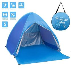 FLYTON Pop Up Beach Tent Shade Sun Shelter UV Protection Canopy Cabana 2-3 Person for Adults Bab ...