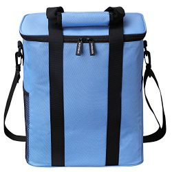 Insulated Picnic Bag, Nuovoware 20L Large Capacity Foldable Outdoor Travel Picnic Box Soft Coole ...