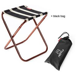 Skysper Folding Camping Stool, Portable Chair for Camping Fishing Hiking Gardening and Beach Bac ...
