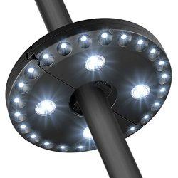 AMIR Patio Umbrella Light 3 Lighting Modes Cordless 28 LED Lights at 200 Lumens – 4 x AA B ...