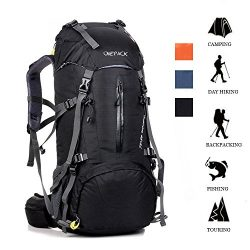 ONEPACK 50L(45+5) Hiking Backpack Waterproof Backpacking Bag Outdoor Sport Daypack for Climbing  ...