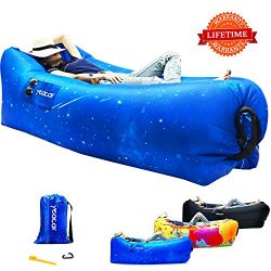 yeacar Inflatable Lounger Air Sofa, Portable Waterproof Indoor or Outdoor Inflatable Couch for C ...